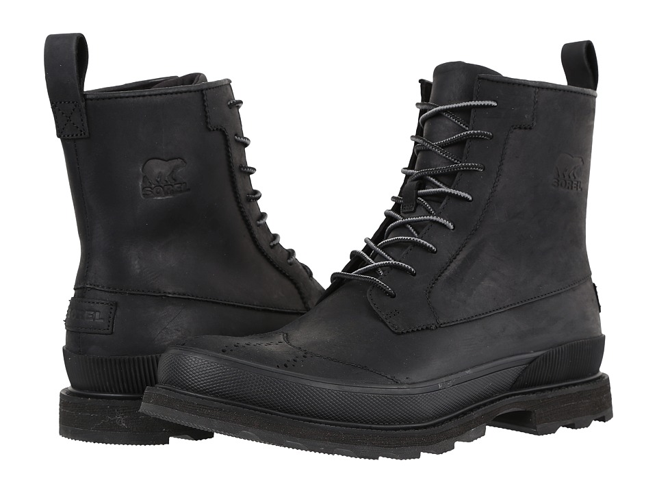 SOREL - Madson Wingtip Boot (Black) Men