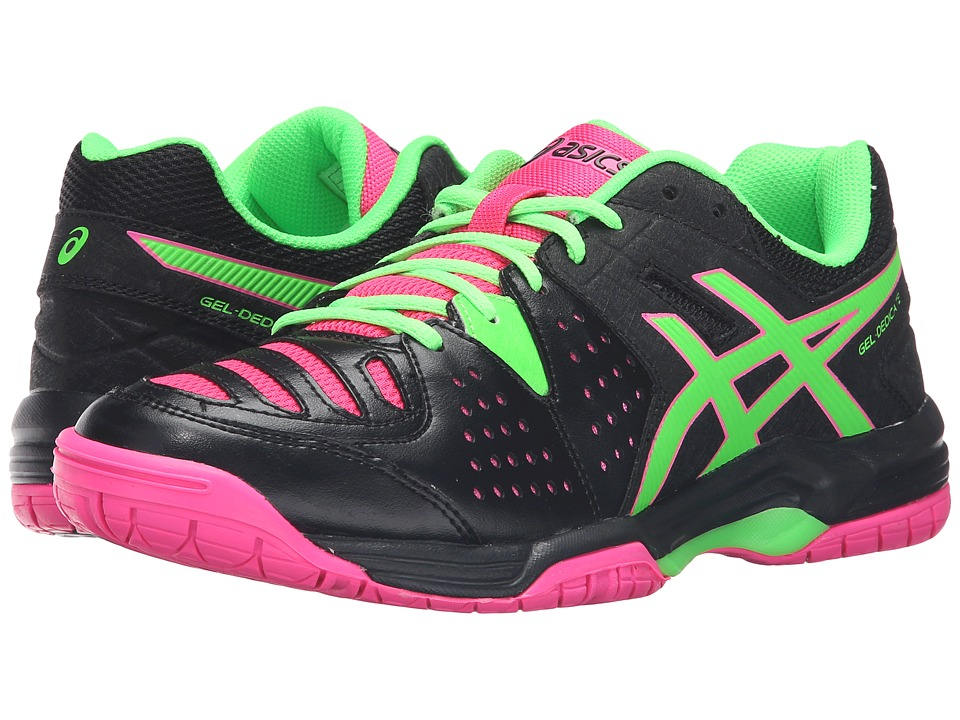 ASICS Gel-Dedicate 4 (Black/Green Gecko/Hot Pink) Women