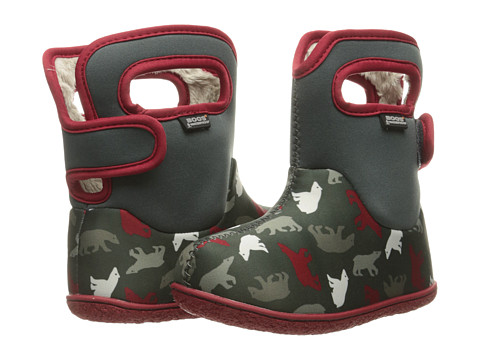 Bogs Kids Baby Classic Polar Bears (Toddler) - Dark Gray Multi