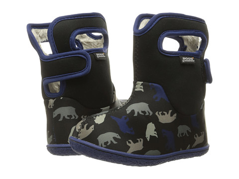 Bogs Kids Baby Classic Polar Bears (Toddler) - Black Multi