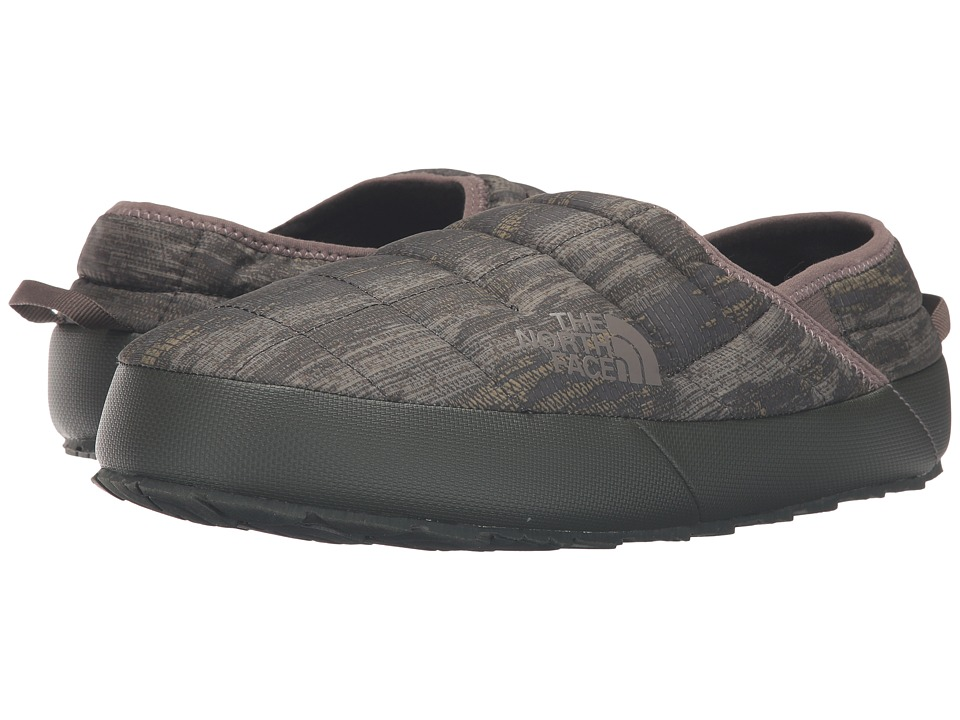 The North Face ThermoBall Traction Mule II (Rosin Green Glamo Print/Caper Berry Green) Men