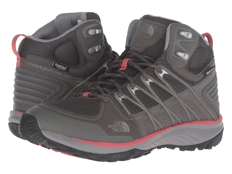 The North Face - Litewave Explore Mid WP (Dark Gull Grey/Spiced Coral) Women