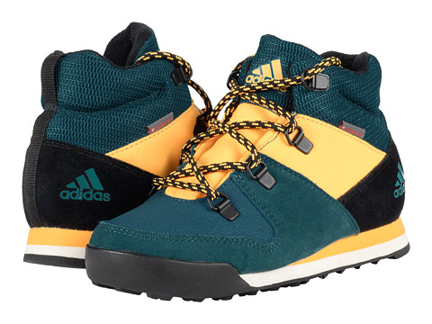 adidas Outdoor Kids CW Snowpitch (Little Kid/Big Kid) - Tech Green/Black/Solar Gold