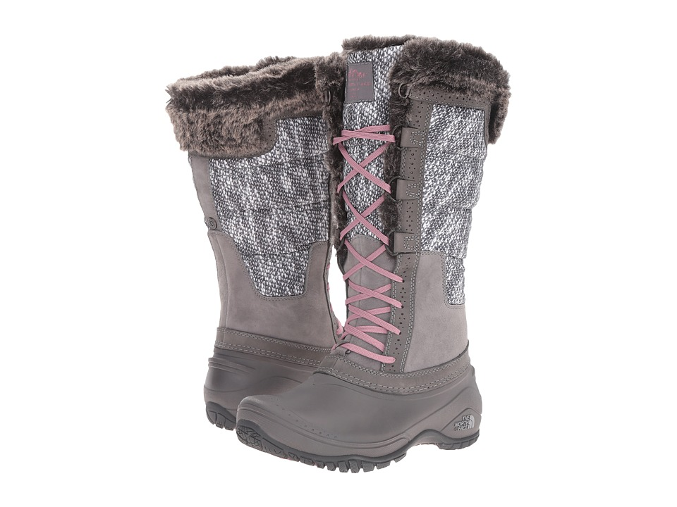 The North Face Shellista II Tall (Smoked Pearl Grey/Nostalgia Rose (Prior Season)) Women's Cold Weather Boots