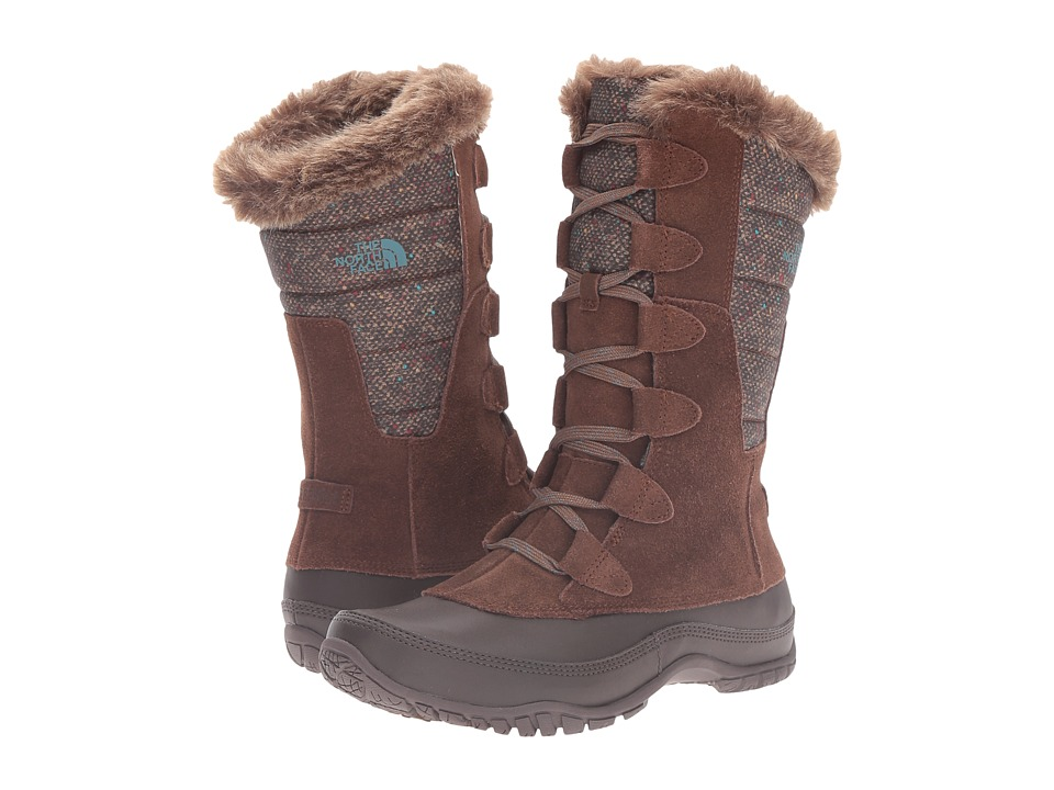 The North Face - Nuptse Purna (Dark Earth Brown/Storm Blue) Women