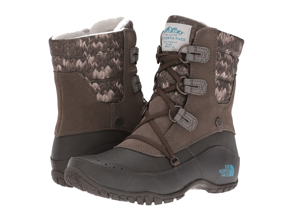 The North Face - Nuptse Purna Shorty (Shroom Brown/Storm Blue) Women