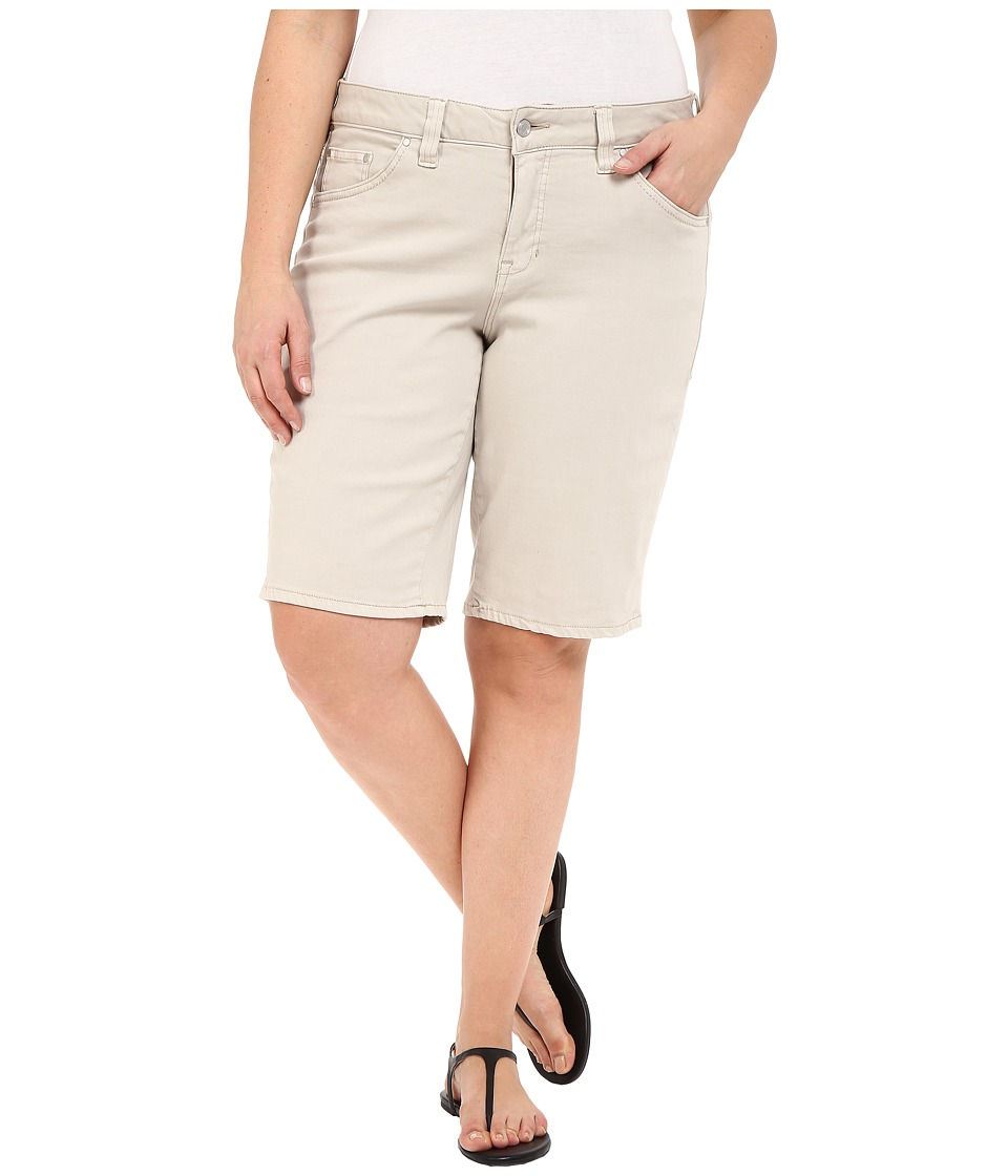 Jag Jeans Plus Size Plus Size Willa Bermuda in Dolce Twill Stone Womens Shorts