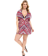BECCA by Rebecca Virtue - Plus Size Secret Garden Tunic Cover-Up
