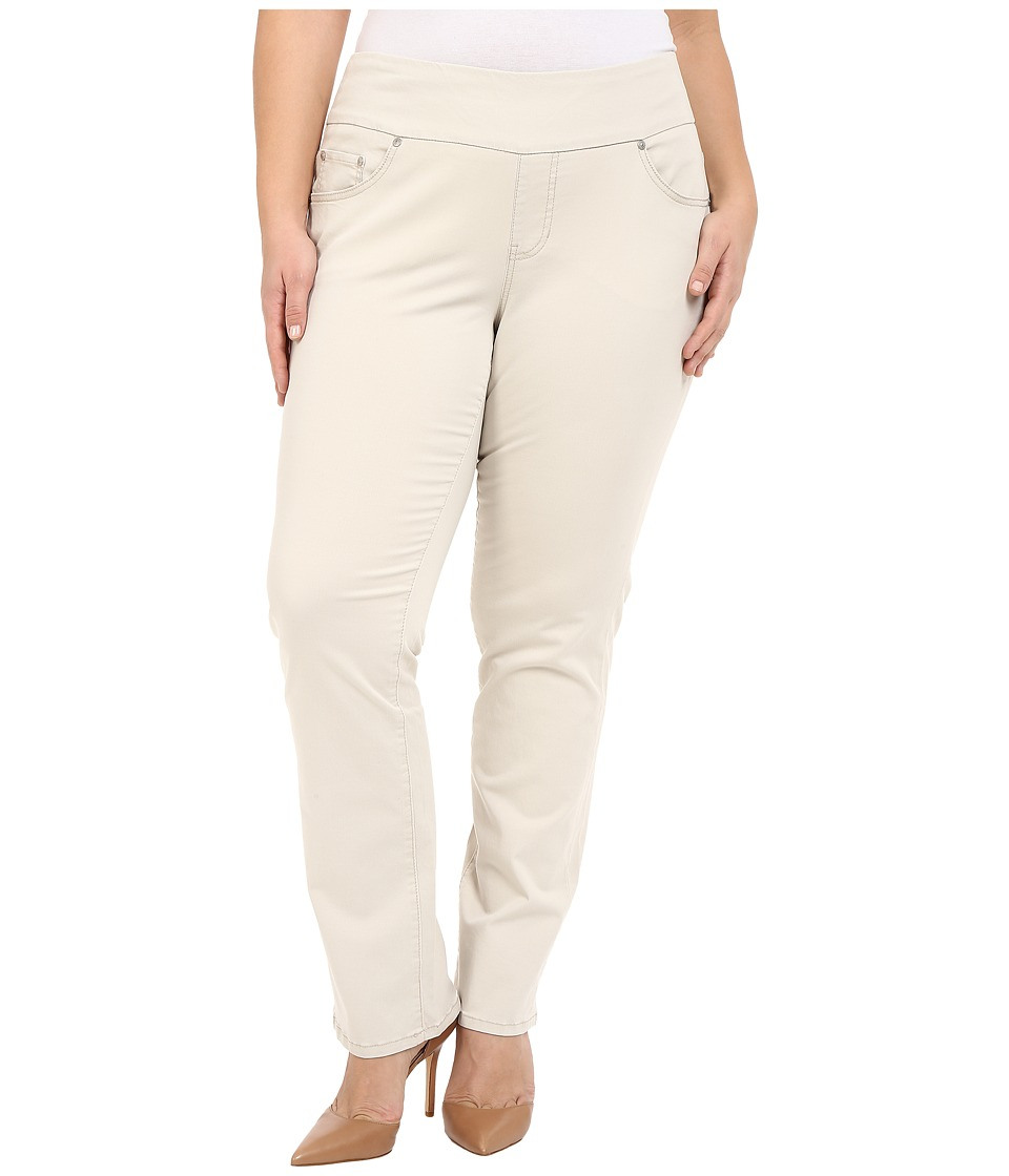 Jag Jeans Plus Size Plus Size Peri Pull On in Bay Twill Stone Womens Casual Pants