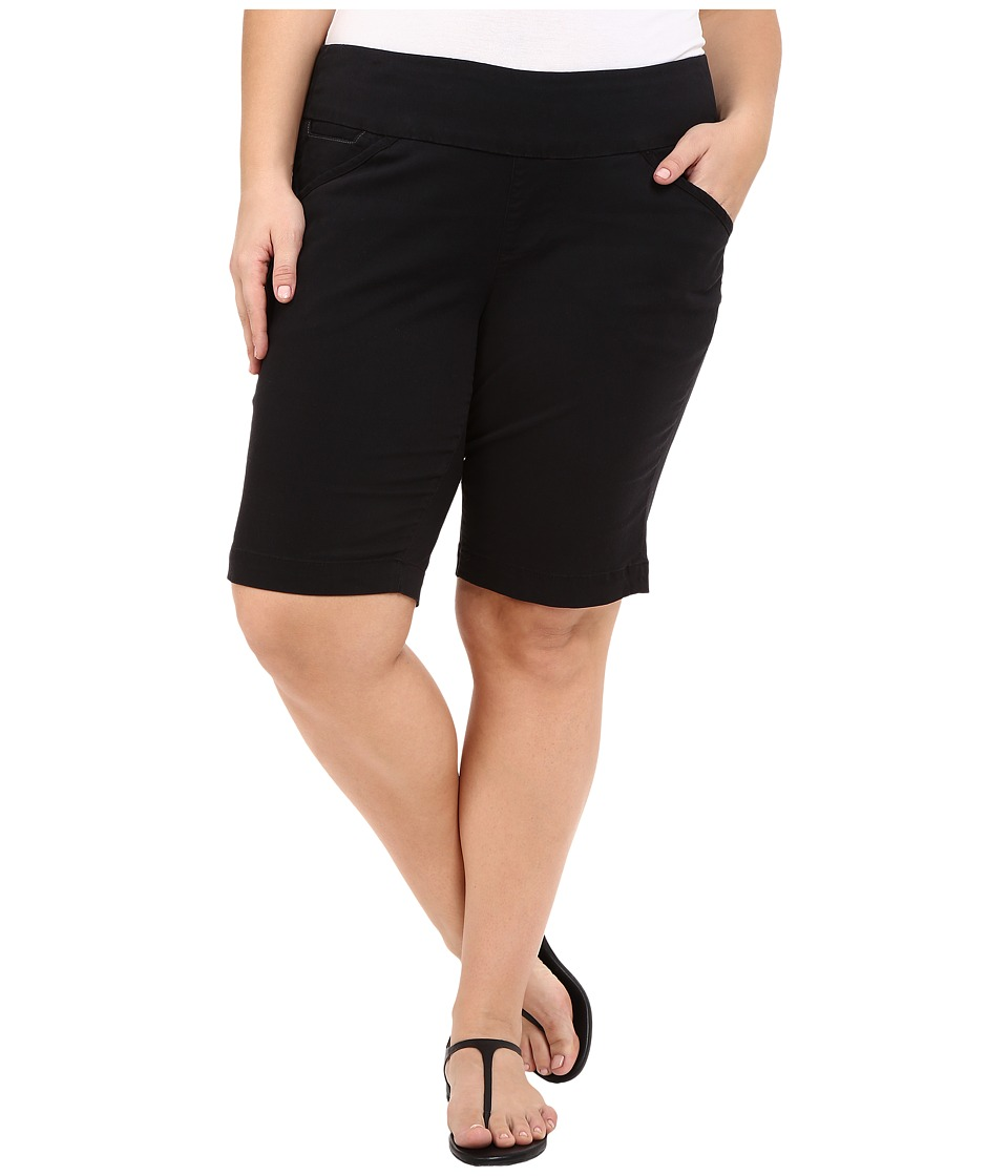 Jag Jeans Plus Size Plus Size Ainsley Classic Fit Bermuda in Black Bay Twill Black Womens Shorts