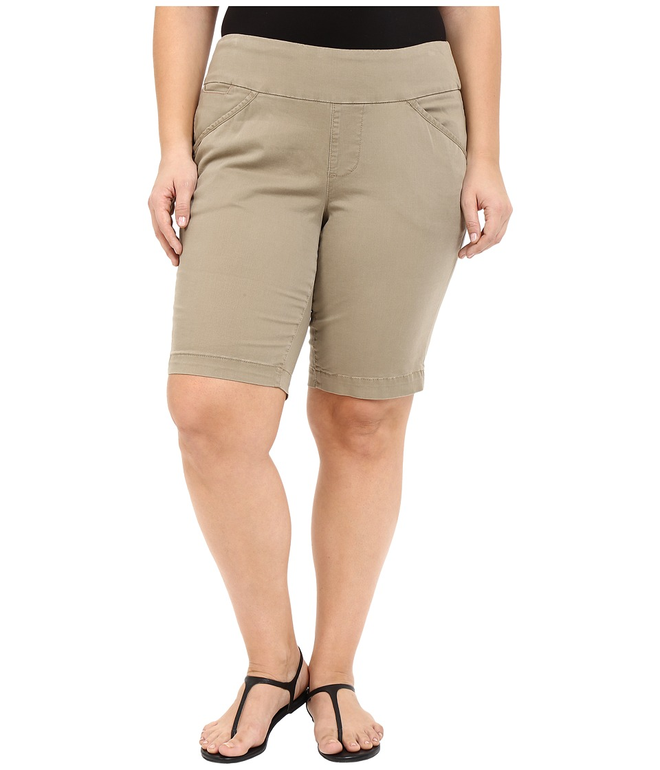 Jag Jeans Plus Size Plus Size Ainsley Classic Fit Bermuda in Hazelnut Bay Twill Hazelnut Womens Shorts