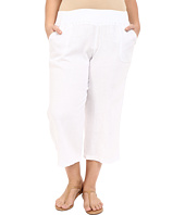 Allen Allen - Plus Size Crop Pants w/ Rib Waist