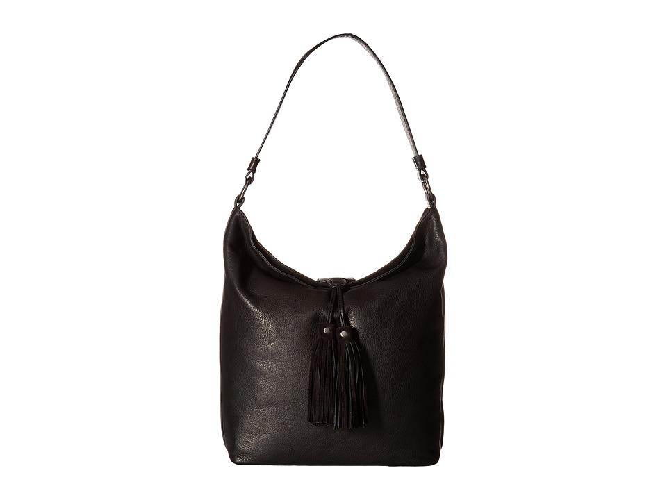 Frye - Clara Hobo (Black Soft Vintage Leather) Hobo Handbags