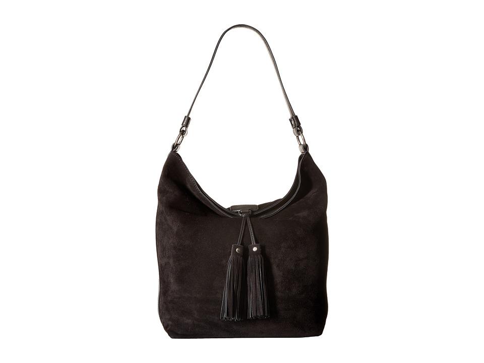 Frye - Clara Hobo (Black Suede) Hobo Handbags