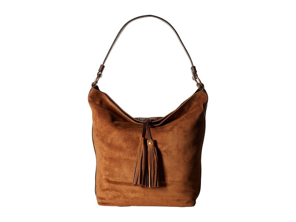 Frye - Clara Hobo (Brown Suede) Hobo Handbags
