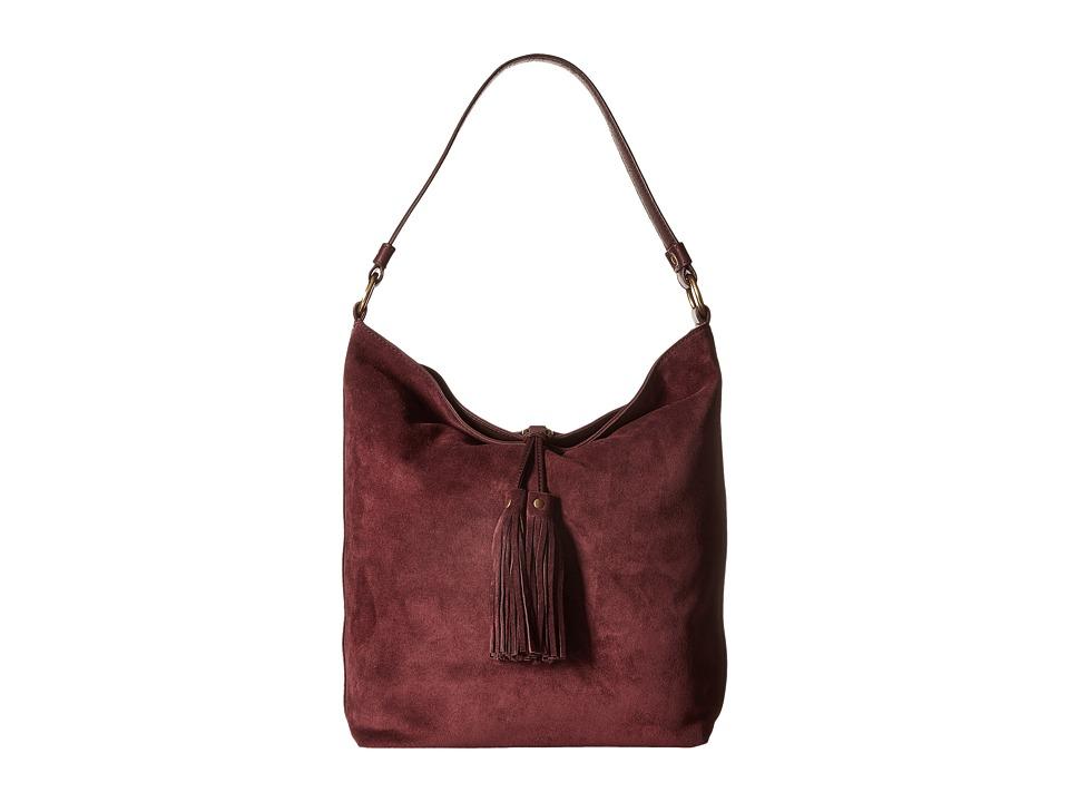 Frye - Clara Hobo (Wine Suede) Hobo Handbags