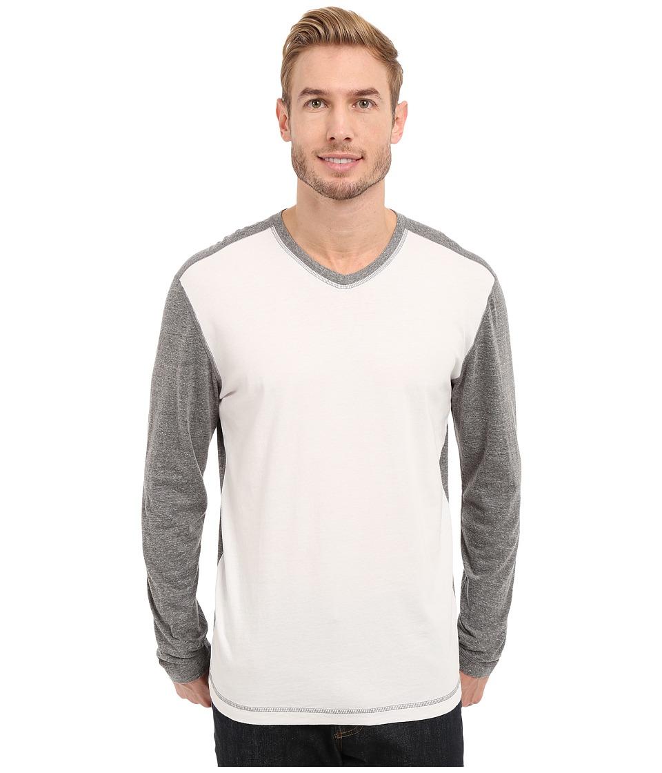 Agave Denim Nichols Baseball V Neck Long Sleeve Cloud Dancer Mens Clothing