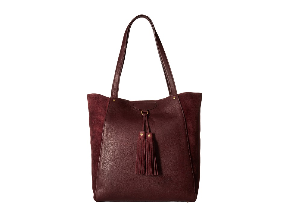 Frye - Clara Tote (Wine Soft Vintage Leather/Suede) Tote Handbags