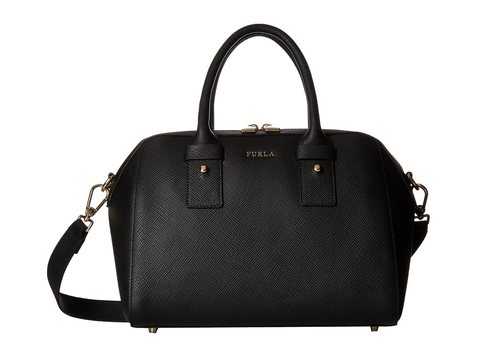 Furla - Allegra Small Satchel (Onyx) Satchel Handbags