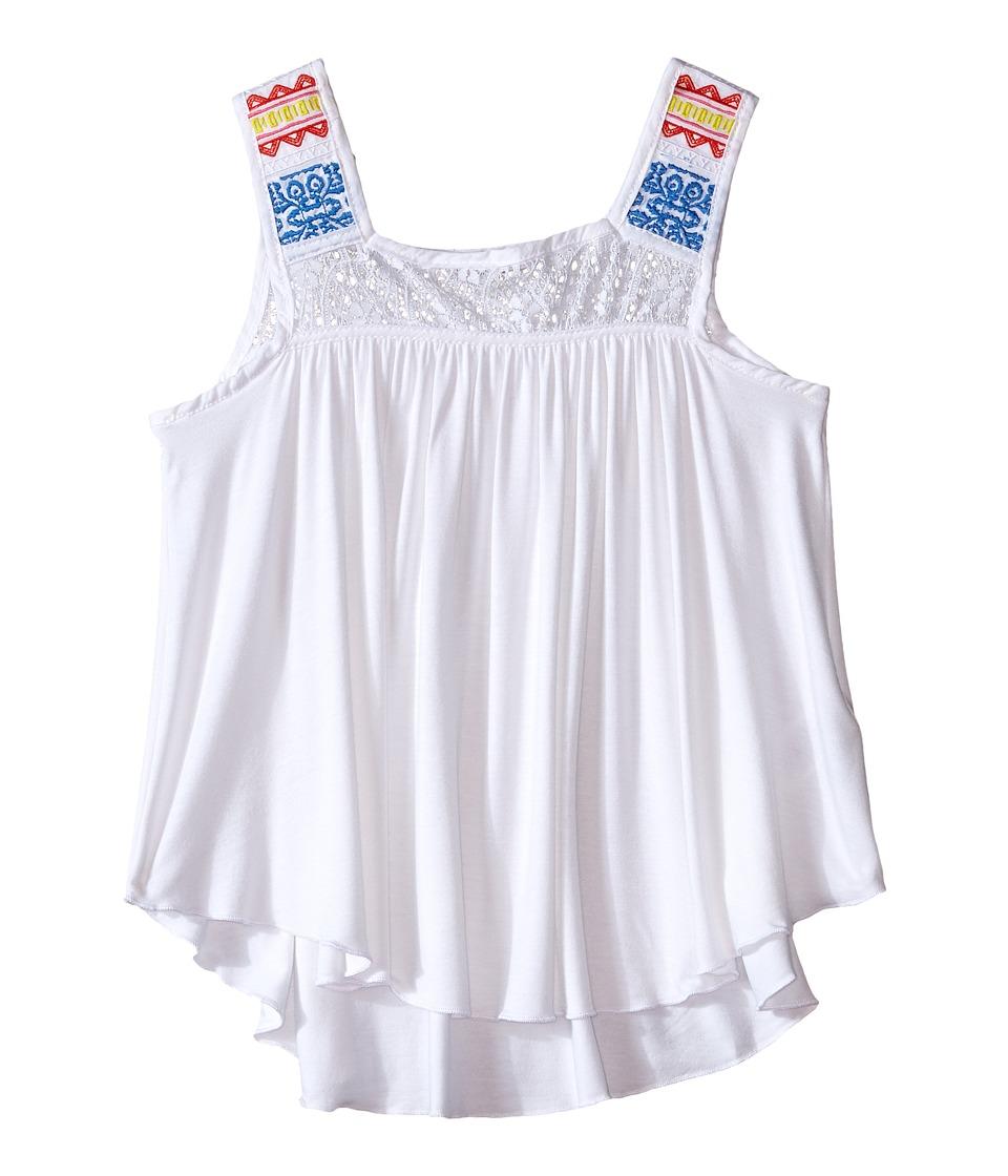 Ella Moss Girl Bella Sleeveless Knit Top Big Kids White Girls Sleeveless