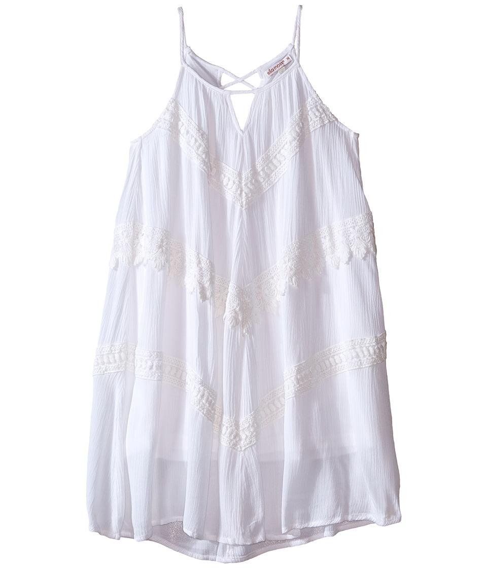 Ella Moss Girl Ali Halter Shift Dress Big Kids White Girls Dress