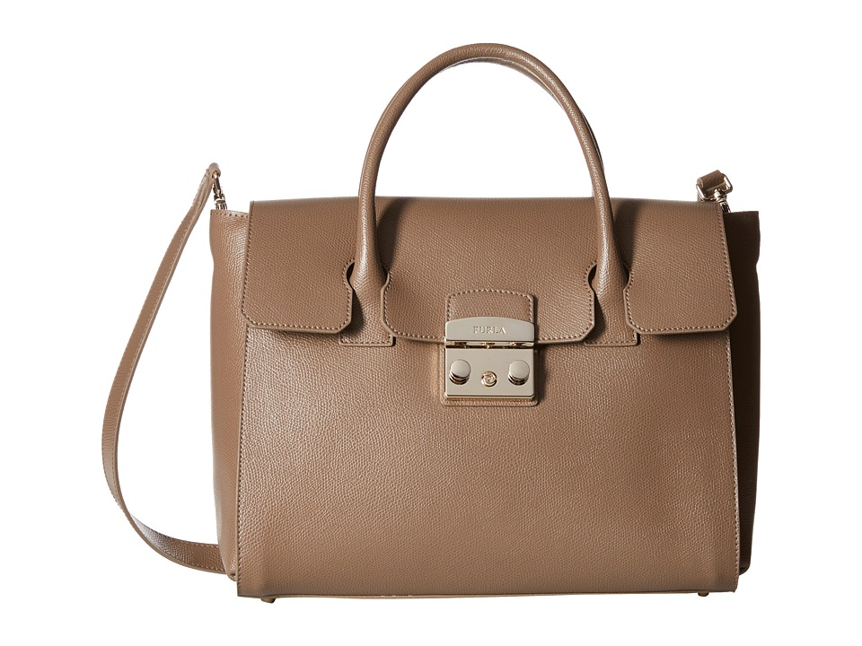 Furla - Metropolis Medium Satchel (Daino) Satchel Handbags