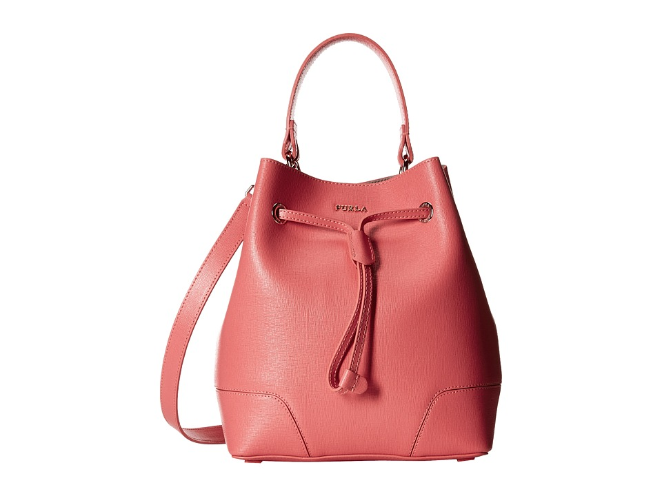 Furla - Stacy Small Drawstring (Corallo) Drawstring Handbags