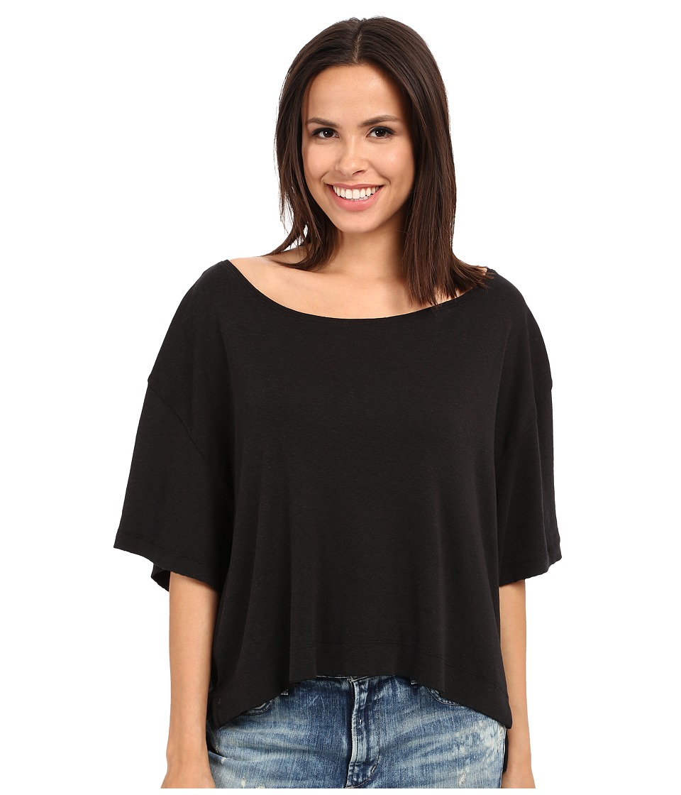 Free People Penny Tee Black Womens T Shirt