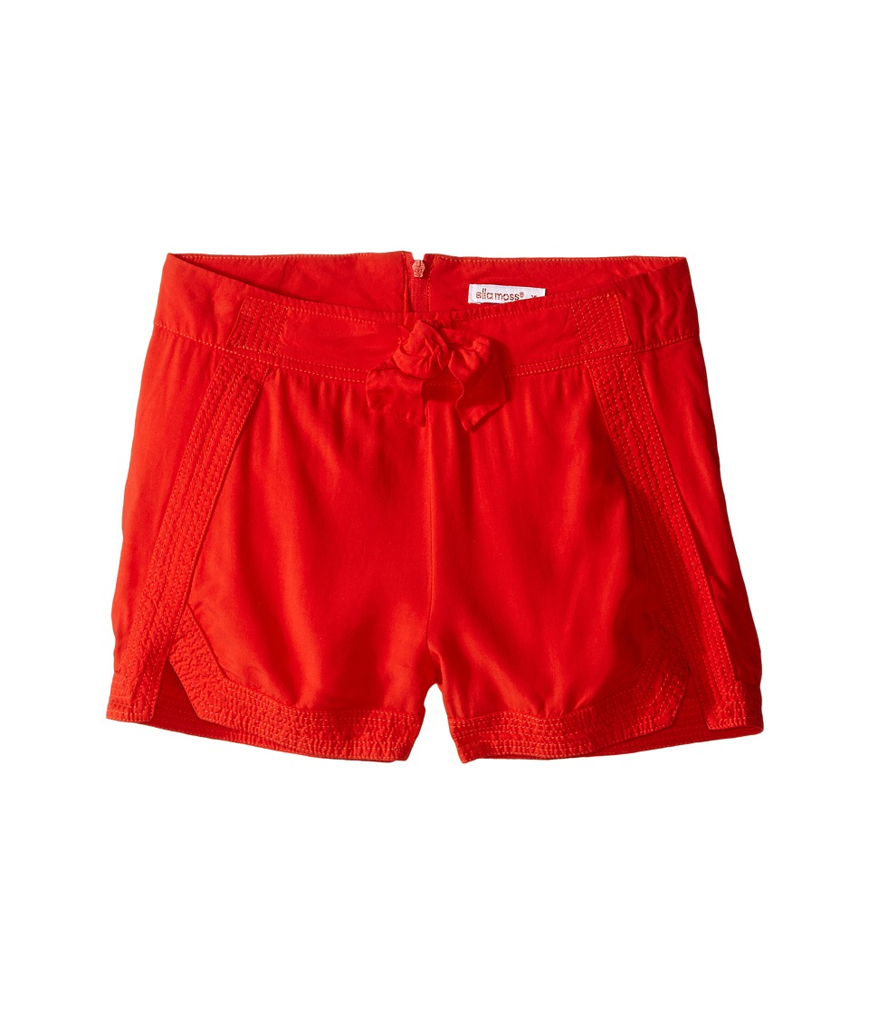 Ella Moss Girl Alma Cuffed Woven Shorts Big Kids Orange Girls Shorts