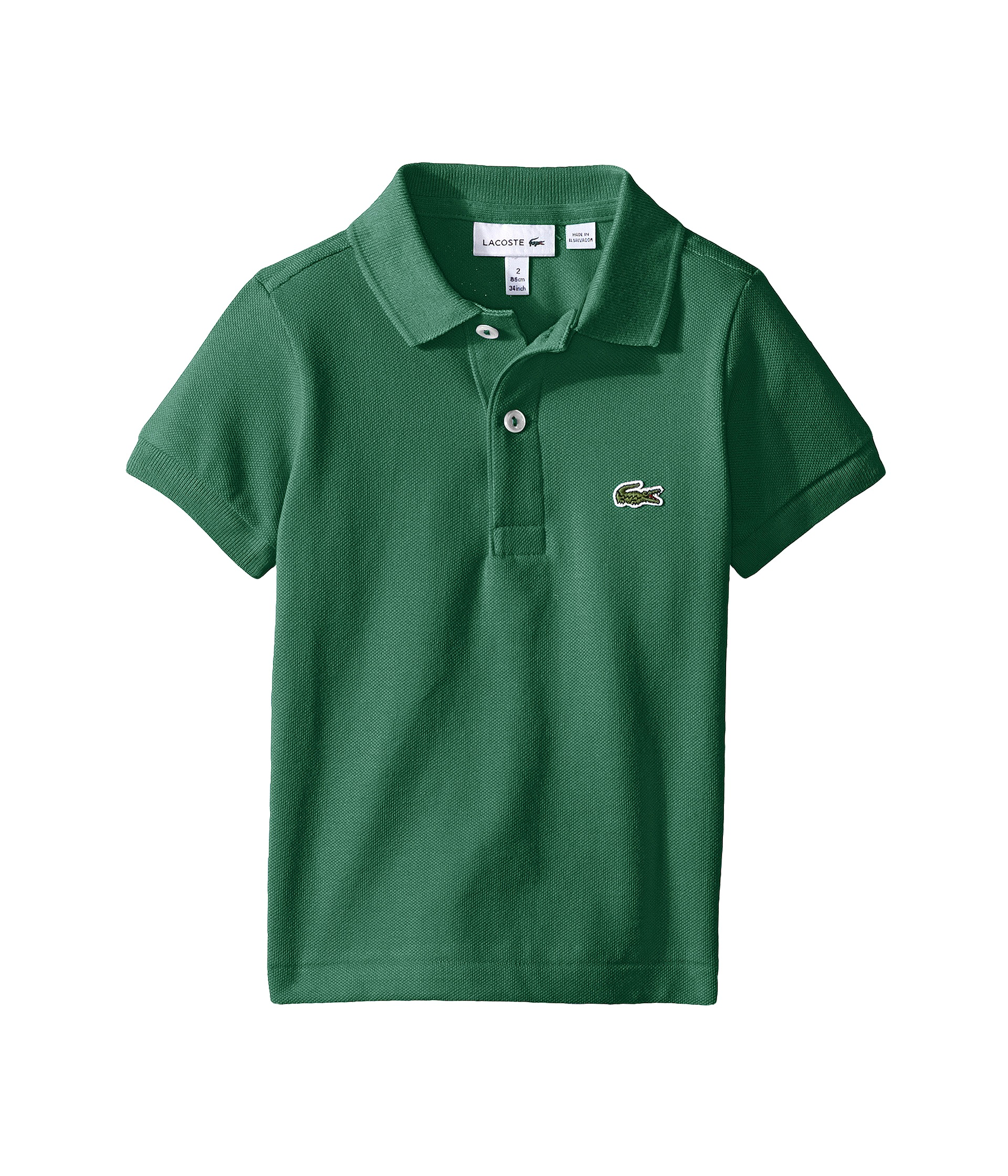 Lacoste kids short sleeve classic pique polo shirt for Toddler boys polo shirts