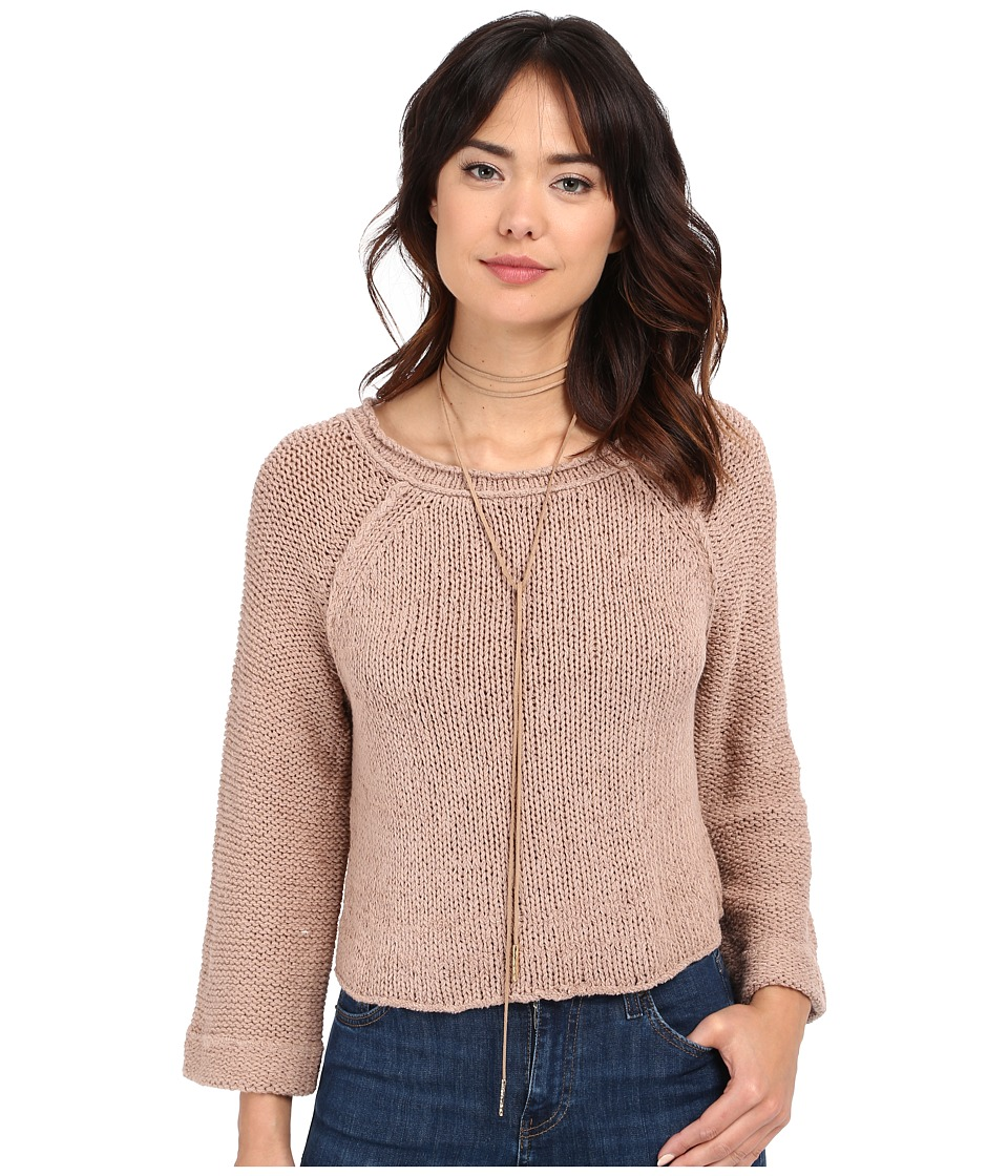 Free People Endless Stories Pullover Toasted Almond Womens Sweater