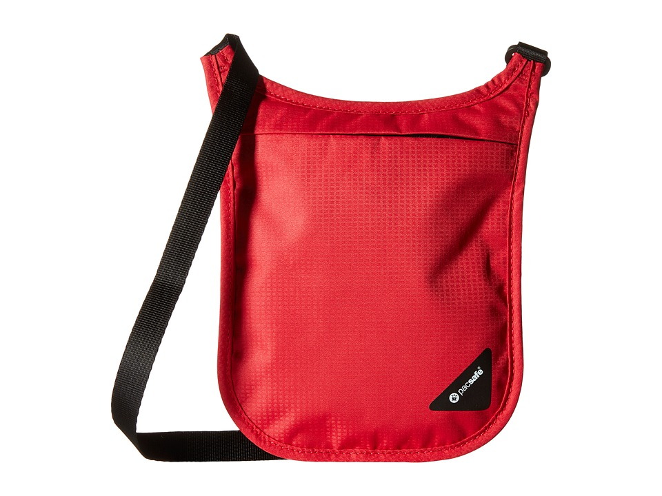 Pacsafe - Coversafe V75 RFID Neck Pouch (Chili) Travel Pouch