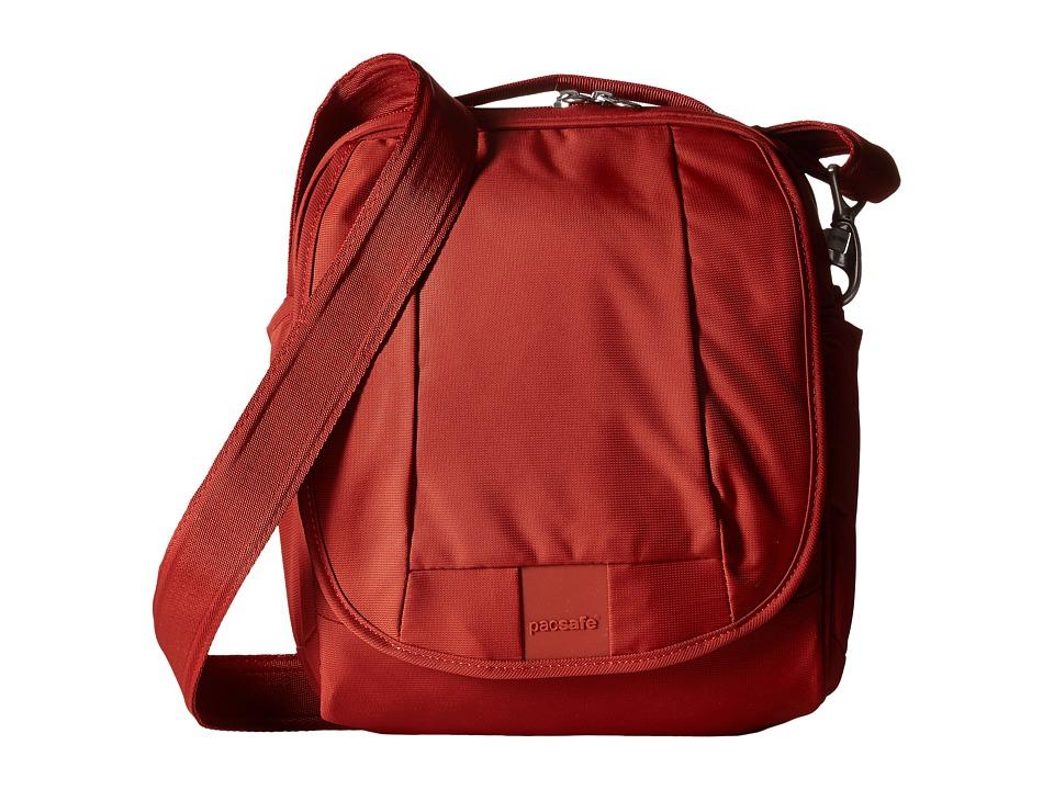 Pacsafe - Metrosafe LS200 Shoulder Bag (Vintage Red) Shoulder Handbags plus size,  plus size fashion plus size appare