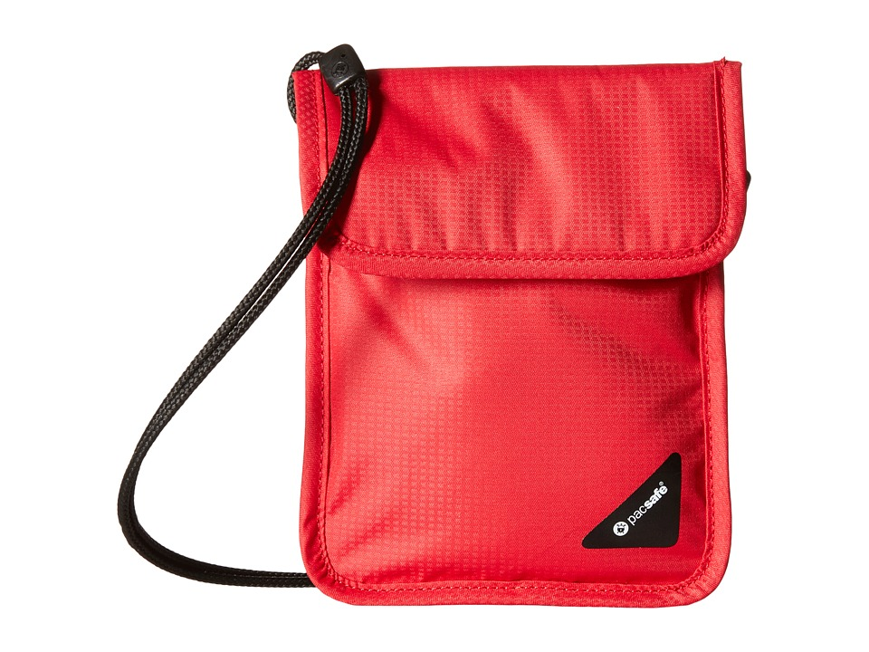 Pacsafe - Coversafe X75 RFID Neck Pouch (Chili) Travel Pouch