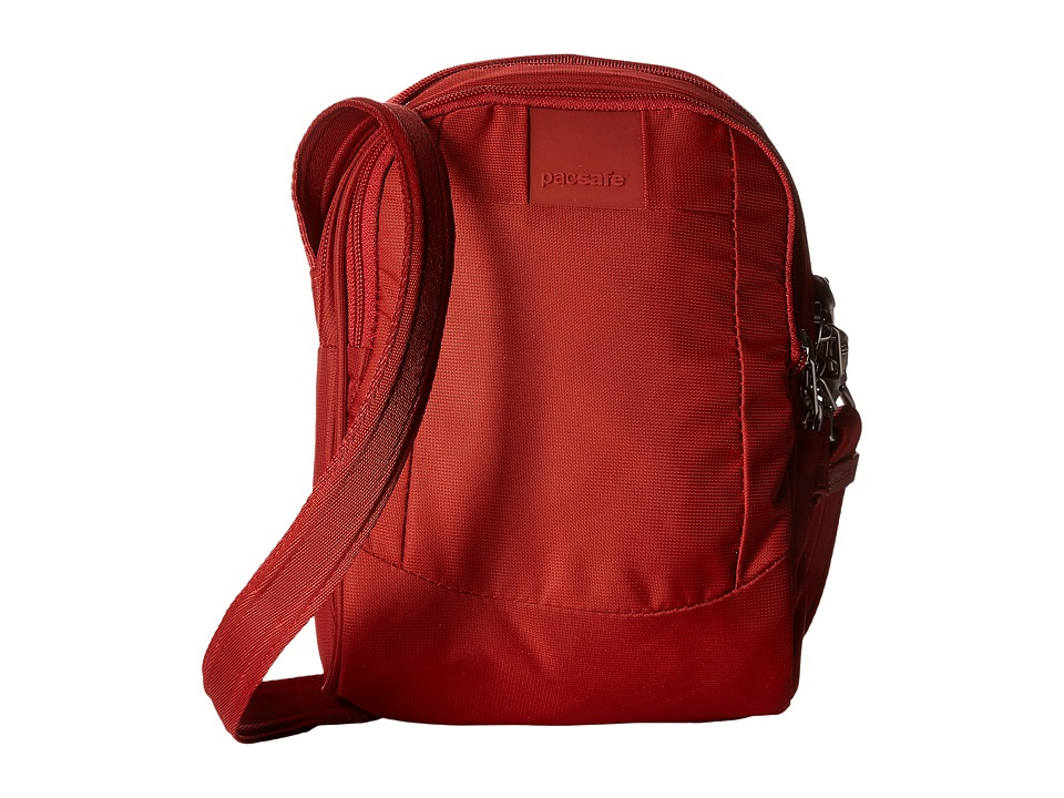 Pacsafe - Metrosafe LS100 Crossbody Bag (Vintage Red) Cross Body Handbags plus size,  plus size fashion plus size appare