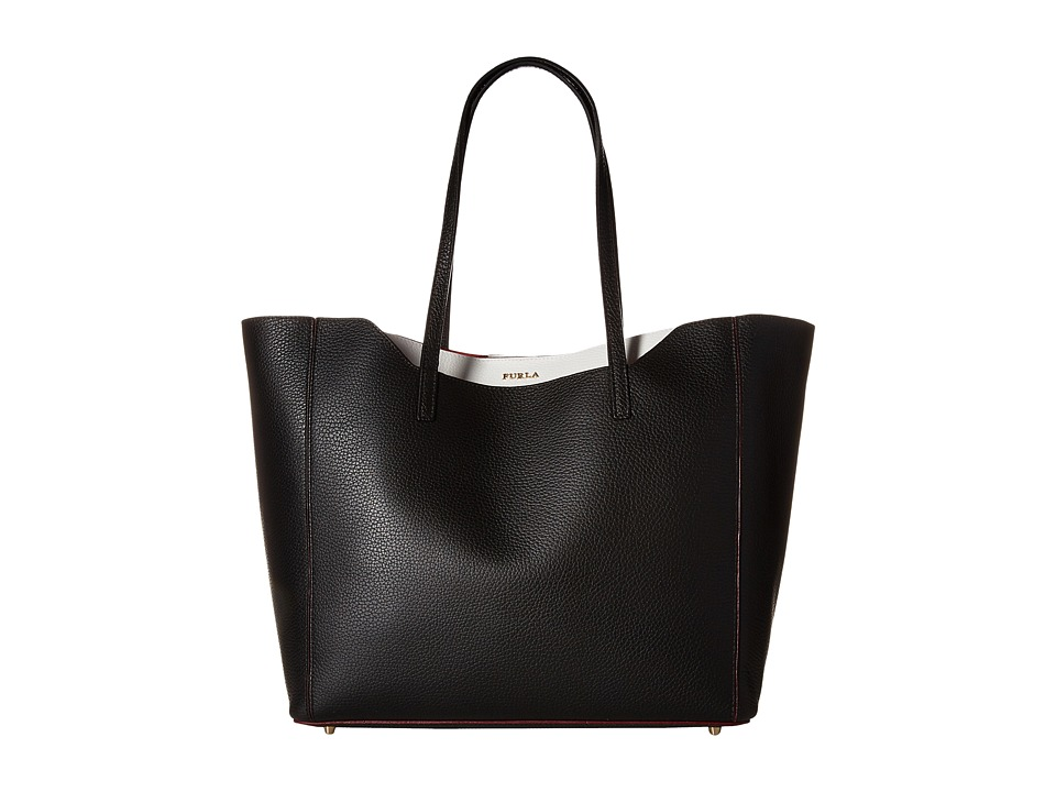 Furla - Fantasia Medium Tote (Onyx) Tote Handbags