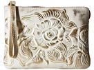 Patricia Nash Holiday Metallic Cassini Wristlet (White Gold)