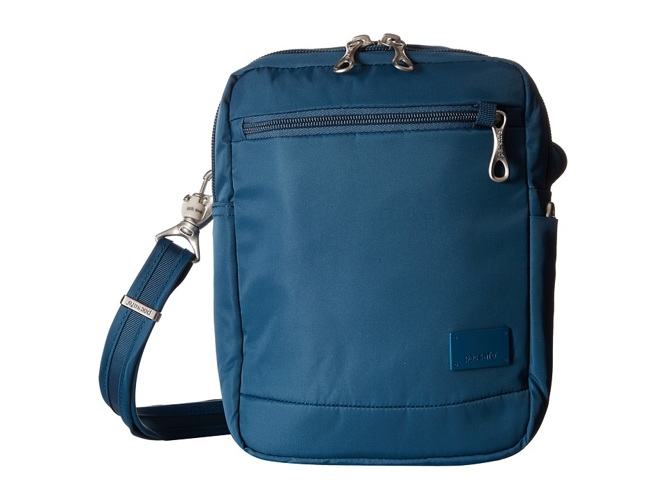 Pacsafe - Citysafe CS75 Anti-Theft Crossbody Travel Bag (Teal) Cross Body Handbags