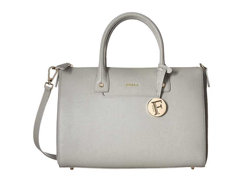 Furla - Linda Medium Satchel (Marmo) Satchel Handbags