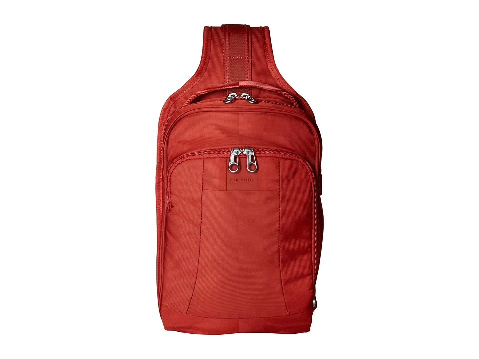 Pacsafe - MetroSafe LS150 Sling Backpack (Vintage Red) Backpack Bags