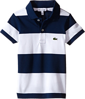 Lacoste Kids - Short Sleeve Bold Stripe Pique Polo (Infant/Toddler/Little Kids/Big Kids)