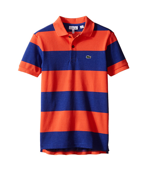 Lacoste Kids Short Sleeve Bold Stripe Pique Polo (Infant/Toddler/Little Kids/Big Kids)
