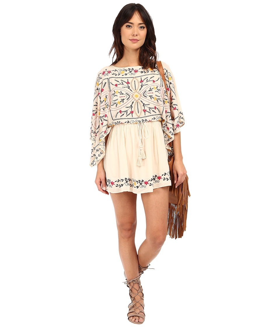 Free People Frida Embroidered Dress Ivory Combo Womens Dress