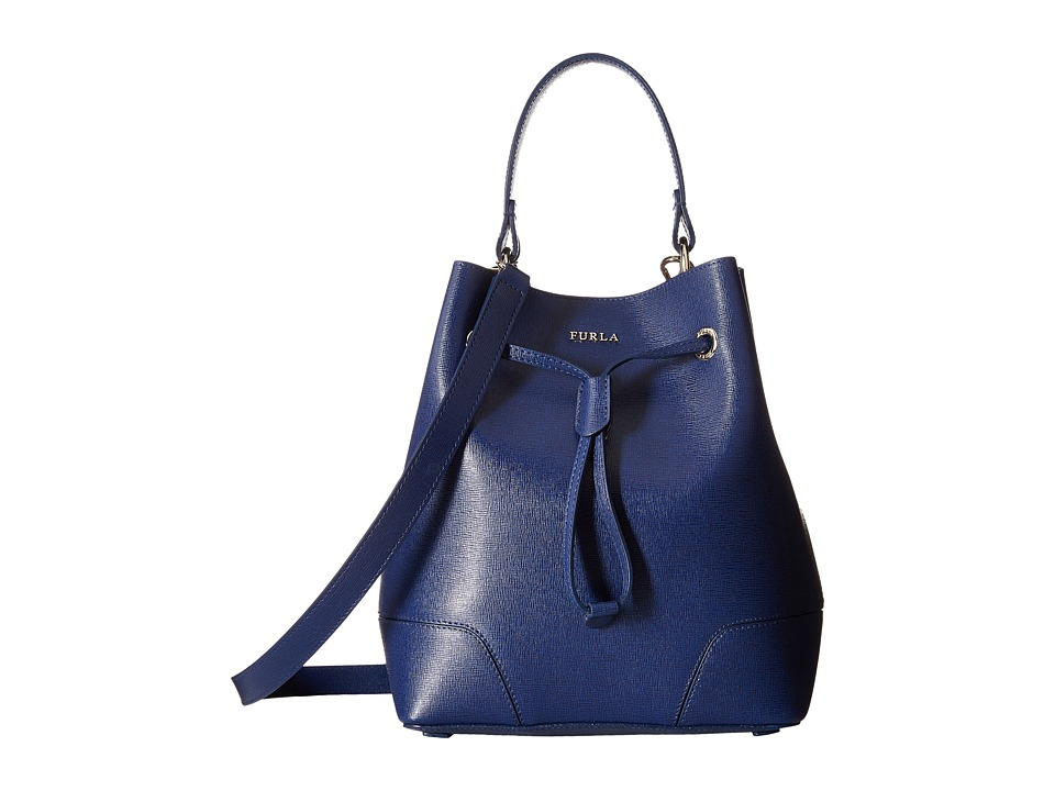 Furla - Stacy Small Drawstring (Navy) Drawstring Handbags