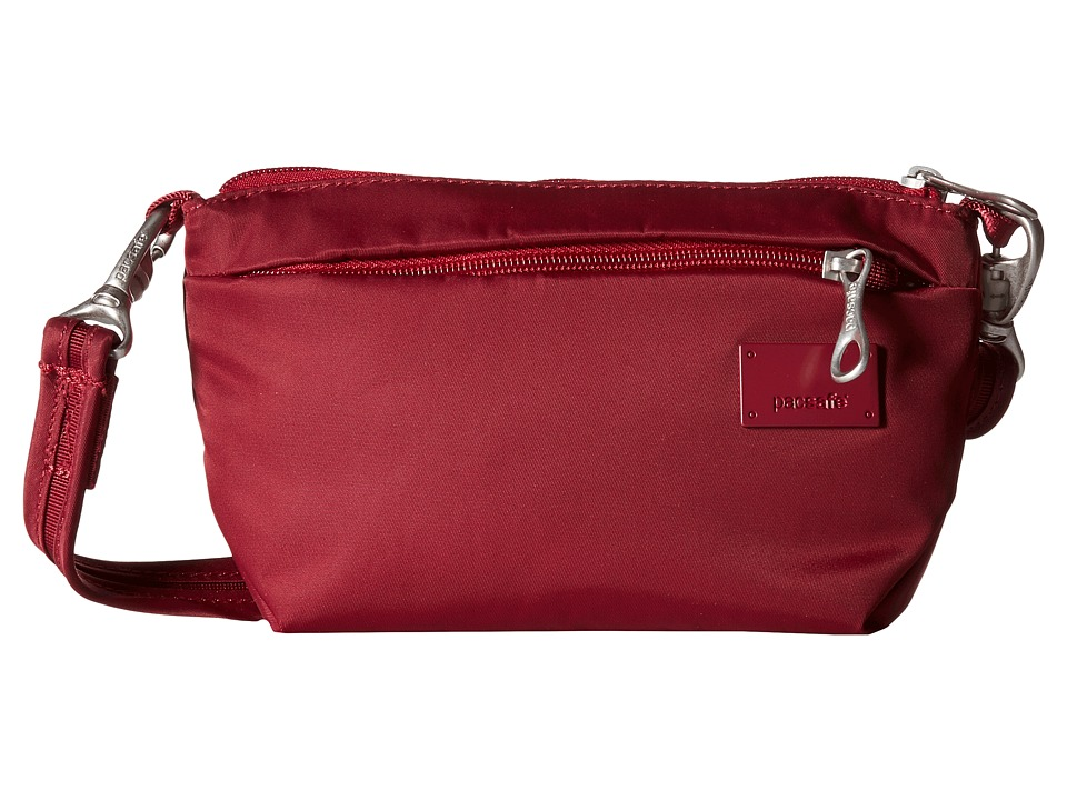 Pacsafe - Citysafe CS25 Crossbody Hip Purse (Cranberry) Cross Body Handbags