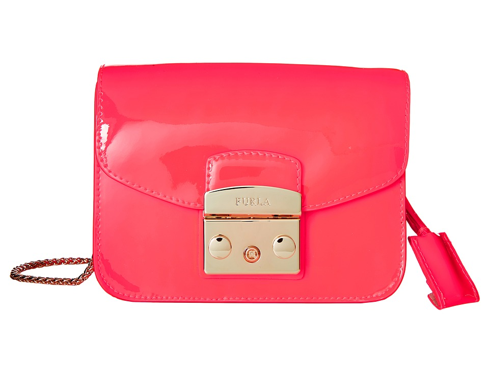 Furla - Metropolis Mini Crossbody (Rodonite Fluo) Cross Body Handbags