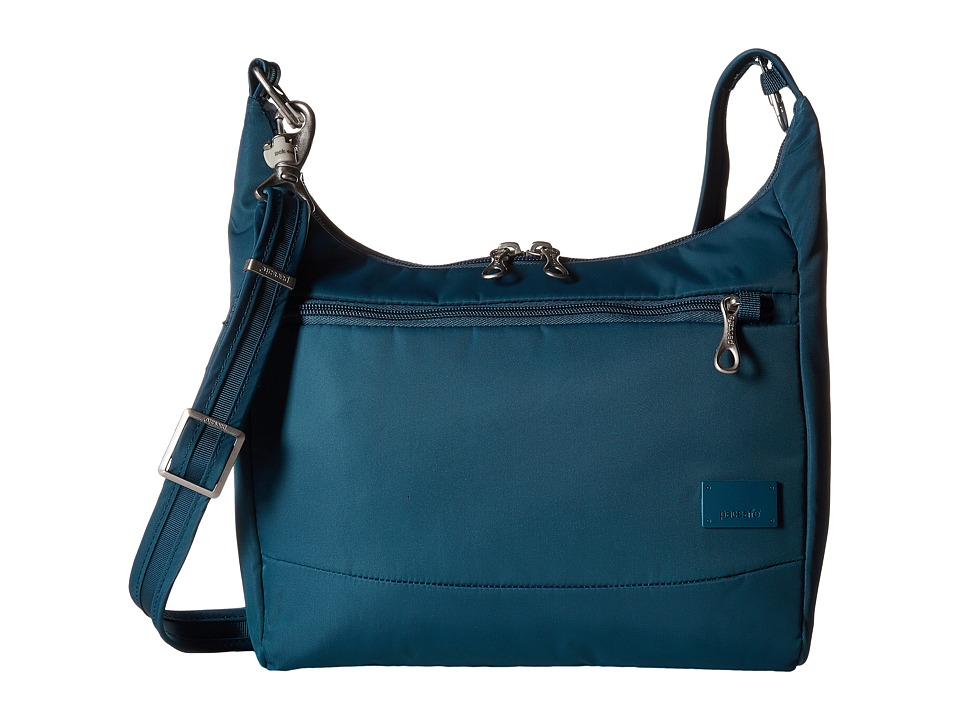Pacsafe - Citysafe CS100 Anti-Theft Travel Handbag (Teal) Handbags