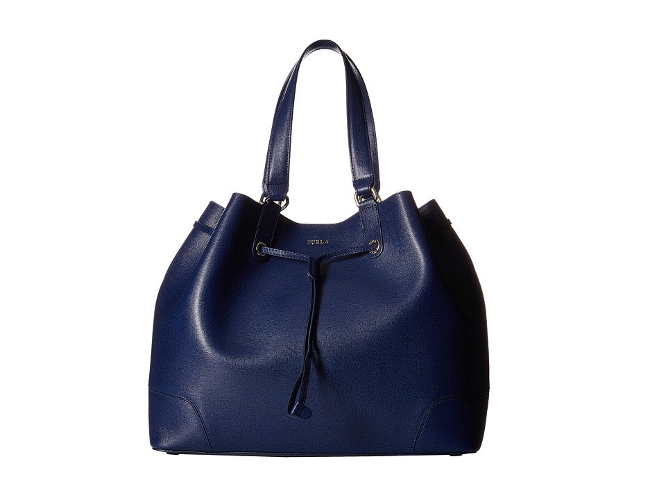 Furla - Stacy Large Drawstring (Navy) Drawstring Handbags