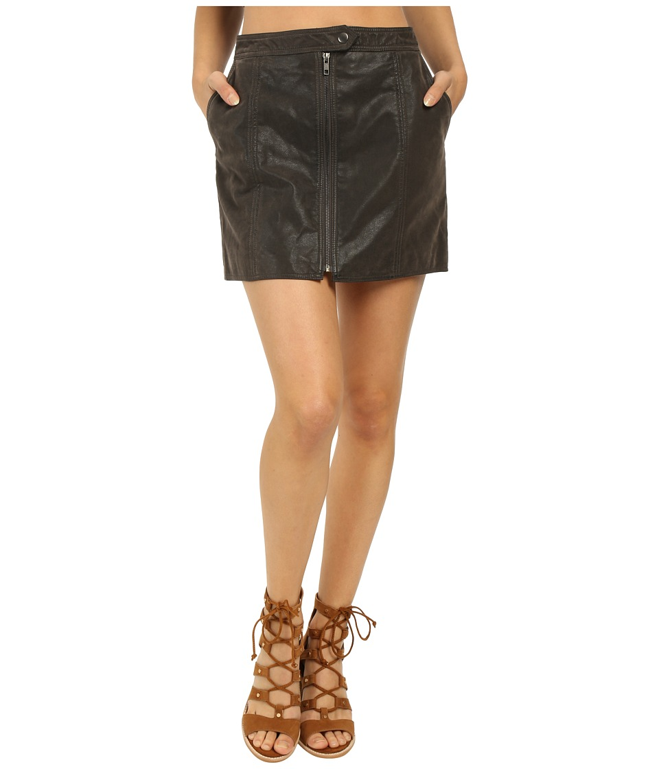 Free People Get into the Groove Skirt Concrete Womens Skirt