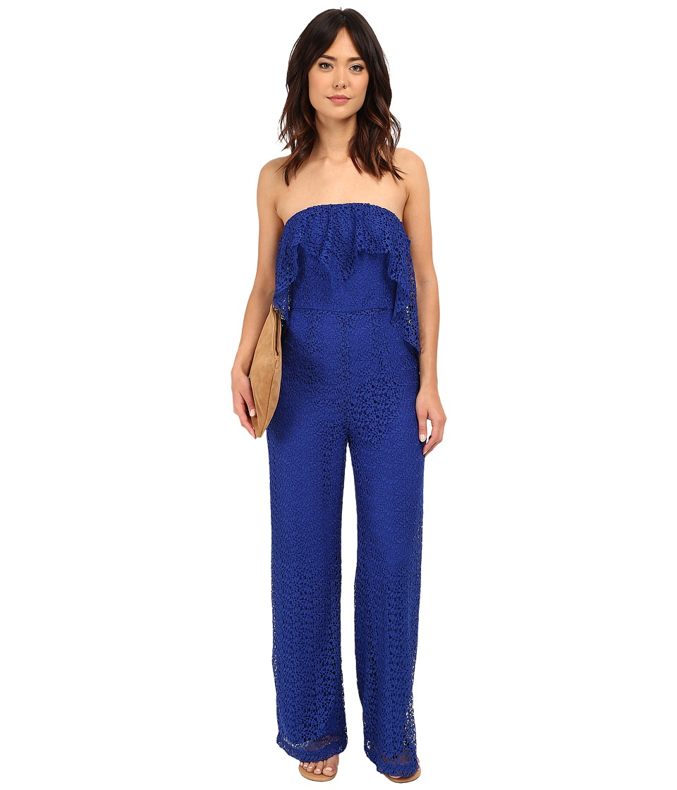 Free People Lemoncello Romper Cobalt Womens Jumpsuit Rompers One Piece